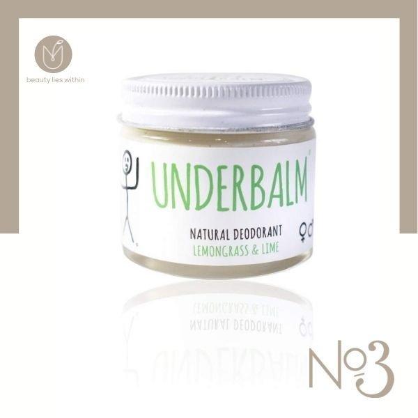 No3 Lemongrass & Lime Underbalm Natural Deodorant
