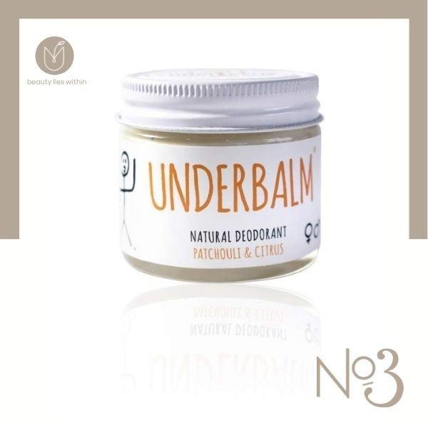 No3 Patchouli & Citrus Underbalm Natural Deodorant