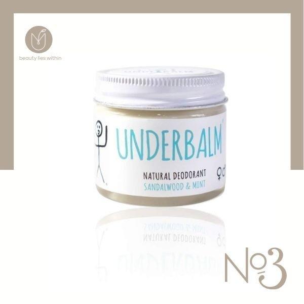 No3 Sandalwood & Mint Underbalm Natural Deodorant