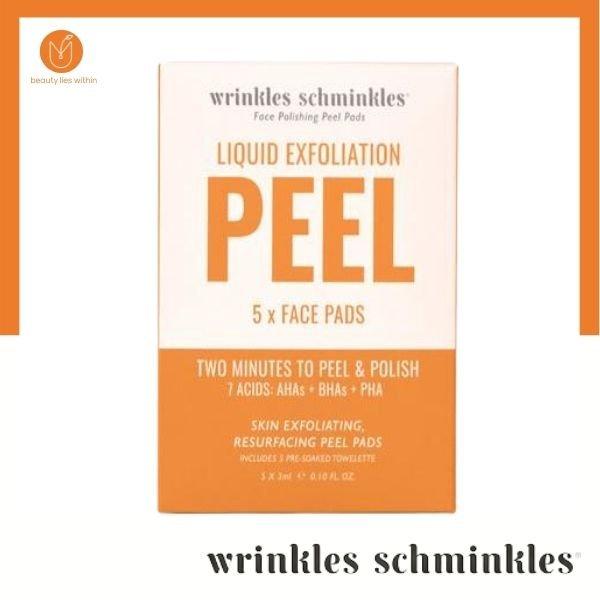 Wrinkle Schminkles Liquid Exfoliation Peel Pad's Face 5 Pack